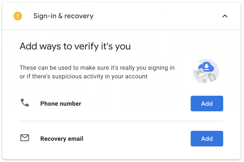 Sign-in & recovery
