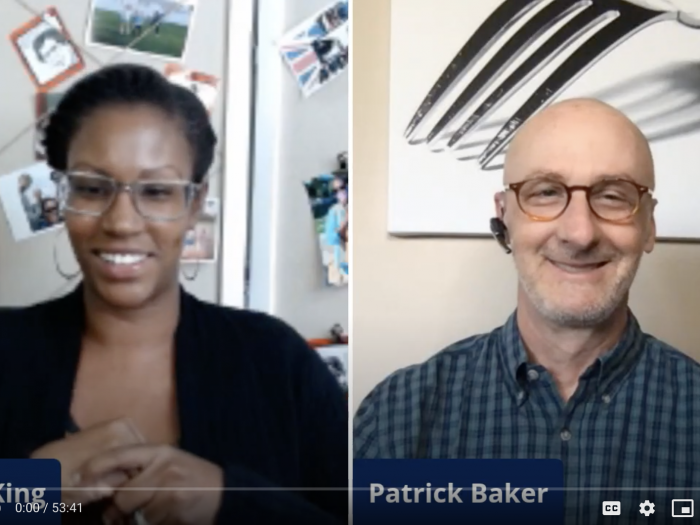 Ayana King interviews Patrick Baker